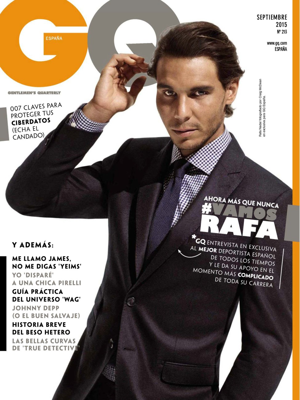 2015 Gq Men Of The Year Party In Los Angeles: Rafael Nadal / GQ Espana Magazine / September 2015